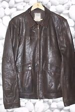 Super conditionTimberland leather biker jacket, leather excellent quality brown!