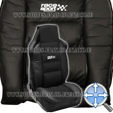 Race Sport Black Luxury Padded Lumbar Side Support Car Single Seat Cover Cushion