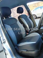 i - TO FIT A MITSUBISHI DELICA CAR, SEAT COVERS, GREY/BLACK STITCH, FULL SET