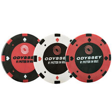 Callaway Golf 2016 Odyssey Poker Chip Ball Markers - Pack of 3 - Black/White/Red