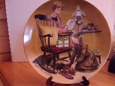 """Don Spaulding collector plate, """"Father's Day"""" 1982"""