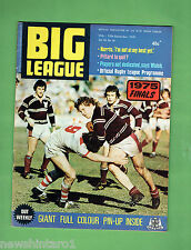 #VV1. RUGBY BIG LEAGUE MAGAZINE 12/9 - 17/9 1975, MANLY VS EASTS FINAL