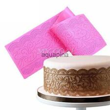 Silicone Flower Mat Lace Fondant Cake Chocolate Sugarcraft Mould Mold Tool