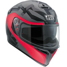 AGV K3 SV CAMO Full-Face Motorcycle Helmet (Matte Camo/Fucsia) ML (Medium-Large)