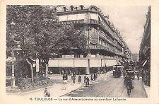 BR72343 toulouse la rue d alsace lorraine  au carrefour traway tram bike  france