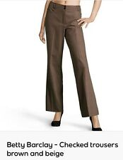 Betty Barclay -Checked trousers brown and beige - UK 20 - EU 46, RPR:£180
