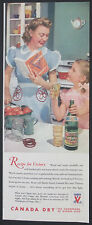 Canada Dry Ginger Ale Recipe for Victory Vintage 1943 Wartime Original Print Ad