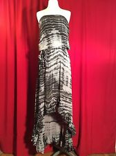 Guess NWT Sexy  cute Cleavage Strapless Gal Tie Dye High Low Cocktail Dress $168