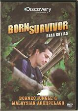 BORN SURVIVOR BEAR GRYLLS - BORNEO JUNGLE & MALAYSIAN ARCHPELAGO DVD
