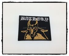 Bathory Sew Iron On Patch Rock Band Heavy Metal Logo Music Punk Embroidered Cap