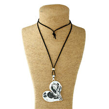Hot Silver Lagenlook Abstract Alloy Large Heart Pendant Long Chain Necklace