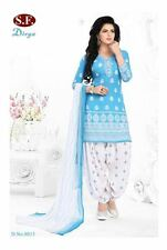 Salwar EDH Kameez Churidar Suit Indian Bollywood Pakistani Unstitched Synthetic