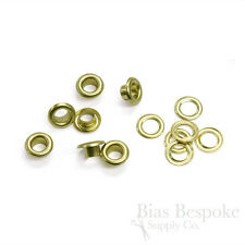 Set of 144, Size #00 Grommets (9.5mm), 6 Metal Finishes Available