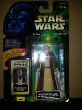 STAR WARS THE POWER OF THE FORCE ANAKIN SKYWALKER WITH LIGHTSABER FIGURE HASBRO