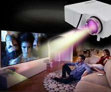 Full HD Support White Mini LED Projector Home Cinema Multimedia 1080P HDMI 3D