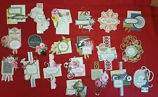 New Anna Griffin Everyday Vintage Collage Card Making Toppers Die- Cuts 20 pcs