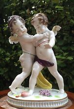 Porcelain cherubs figurine 1850-1899 tribute to Meissen German Saxe Dresden