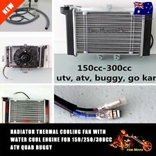 ATV QUAD ALUMINUM RADIATOR Engine cooler Fan 4WD 4x4 Atomik Thumpstar Motoworks