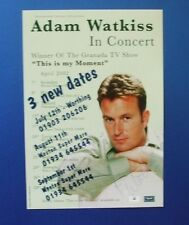THEATRE FLYER ADAM WATKISS IN CONCERT SIGNED BY ADAM WATKISS
