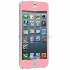 Premium Pink Iphone 5 5c 5s Tempered Glass Screen Protector Oleophobic +