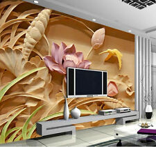 3D Mural wallpaper sitting room Bedroom modern luxury lotus Background wall B199