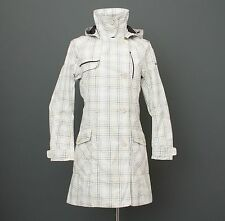 HELLY HANSEN Checked Raincoat Trench Coat Jacket Size S