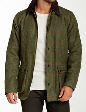 NWT BARBOUR Waxed Wool Tweed BEDALE SL Slim XL Jacket Coat Olive Green Loden