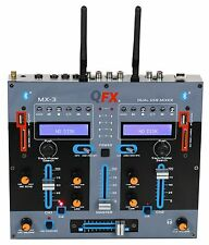 QFX MX-3 Professional 2 Channel  DJ Mixer w/Dual Bluetooth/USB/SD Input