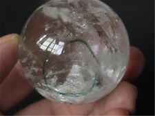 """116g NATURAL rainbow have """"stone inside Stone""""CRYSTAL QUARTZ CLEAR SPHERE BALL"""