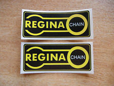 2x Regina Chain stickers - 100mm x 40mm - motorcycle decals