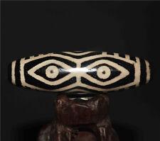 ancient old tibetan dzi bead 6 eyes agate eyed six dragon antique gzi 9 amulet