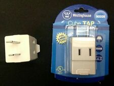 TWO 3-Outlet Polarized Cube Tap-UL Listed-Fits Large Plugs-Indoor Use-USA SELLER