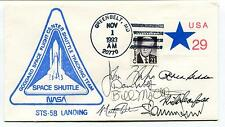 1993 Goddard Space Flight center Shuttle Tracking Team Sts58 Space Cover SIGNED
