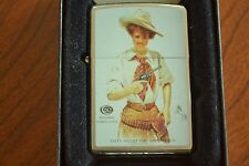 ZIPPO Lighter, Colt Revolvers Automatic Pistols, Cowgirl, Sealed, M861