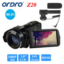 "ORDRO FULL HD 1080P 24MP 16X ZOOM 3 ""Videocamera digitale DV Camcorder Recorder"