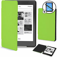 Forefront Cases® Green Smart Case Cover Kobo Aura Edition 2 Screen Prot Stylus