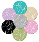 Personalised, wedding, engagement stickers - 30mm diameter 'Abstract Initials'