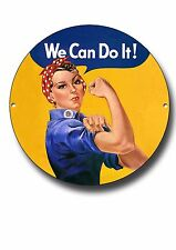 WE CAN DO IT METAL SIGN, PROPAGANDA,ROSIE THE  RIVETER,RETRO,WAR,HISTORY,DECOR