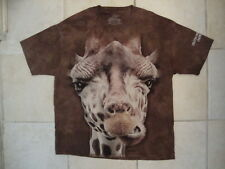 The Mountain Lincoln Park Zoo Giraffe Face Souvenir Brown T Shirt M