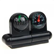 Black Stand Travel Compass Thermometer For Car Boat New