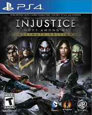 PLAYSTATION 4 INJUSTICE GODS AMONG US ULTIMATE EDITION BRAND NEW VIDEO GAME