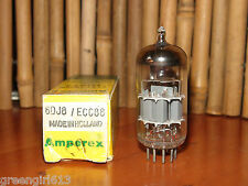 Vintage Amperex 6DJ8 ECC88 Stereo Tube Very Strong & Balanced 10,750/10,400