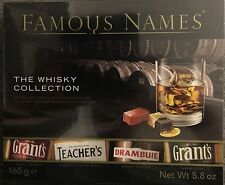Elizabeth Shaw FAMOUS NAMES THE WHISKY COLLECTION LUXURY CHOCOLATE CHRISTMAS NEW