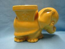 VINTAGE McCOY POTTERY YELLOW GLAZED ELEPHANT PLANTER PLANTERS