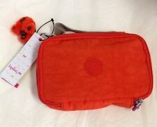 KIPLING Mila Pencil Case Small Blossom Orange AC7660 NWT