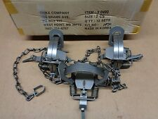 3 New Duke #2 leghold coilspring traps/Bobcat/Coyote/Fox trapping/Coyote good $$