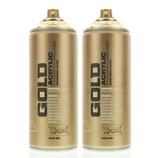 Montana Gold Acrylic Spray Paint GoldChrome M3000 - Urban Art - 2 CANS