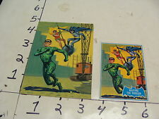 1966 Blue Bat ORIGINAL ART--Routing the Riddler card BATMAN & ROBIN & RIDDLER