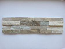 Musterstück ca.15x30cm der Naturstein Wandverblender beige Riemchen 15x60cm