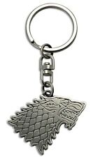 GAME OF THRONES PORTACHIAVI KEYCHAIN HOUSE STARK TRONO DI SPADE LUPO WOLF TV #1